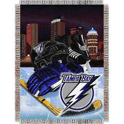 Tampa Bay Lightning NHL Woven Tapestry Throw (Home Ice Advantage) (48x60