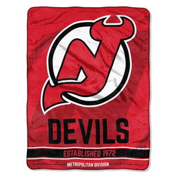 New Jersey Devils NHL Micro Raschel Blanket (Ice Dash Series) (46in x 60in)