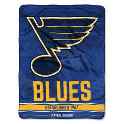 St. Louis Blues NHL Micro Raschel Blanket (Ice Dash Series) (46in x 60in)