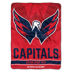 Washington Capitals NHL Micro Raschel Blanket (Ice Dash Series) (46in x 60in)