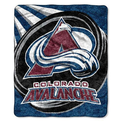 Colorado Avalanche NHL Sherpa Throw (Puck Series) (50x60