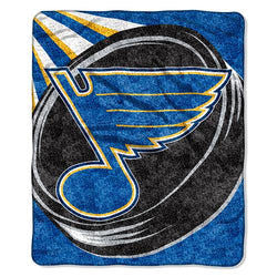 St. Louis Blues NHL Sherpa Throw (Puck Series) (50x60