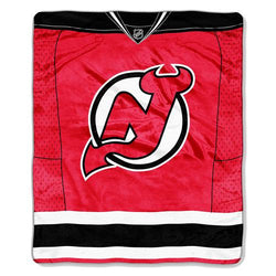 New Jersey Devils NHL Royal Plush Raschel Blanket (Jersey Series) (50in x 60in)
