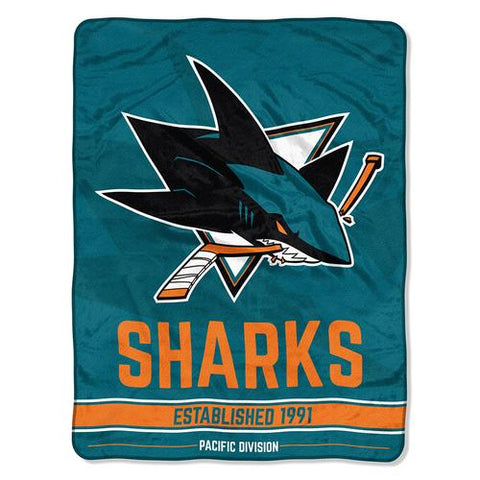 San Jose Sharks NHL Micro Raschel Blanket (Breakaway Series) (48x60