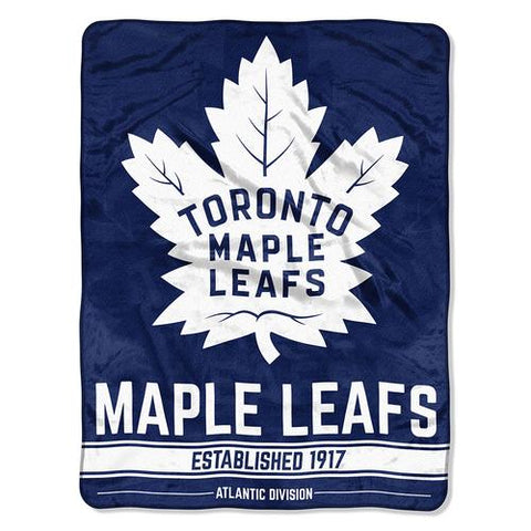 Toronto Maple Leafs NHL Micro Raschel Blanket (Breakaway Series) (48x60