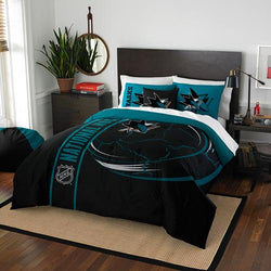 San Jose Sharks NHL Full Comforter Set (Soft & Cozy) (76 x 86