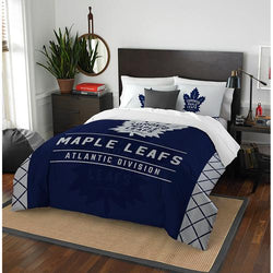 Toronto Maple Leafs NHL Full Comforter Set (Draft Series) (86 x 86