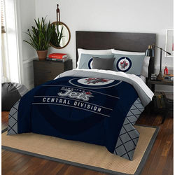 Winnipeg Jets NHL Full Comforter Set (Draft Series) (86 x 86