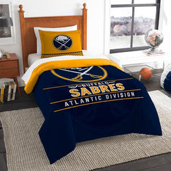 Buffalo Sabres NHL Twin Comforter Set (Draft Series) (64 x 86