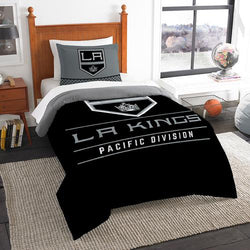 Los Angeles Kings NHL Twin Comforter Set (Draft Series) (64 x 86