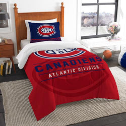 Montreal Canadiens NHL Twin Comforter Set (Draft Series) (64 x 86