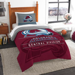 Colorado Avalanche NHL Twin Comforter Set (Draft Series) (64 x 86