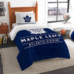 Toronto Maple Leafs NHL Twin Comforter Set (Draft Series) (64 x 86