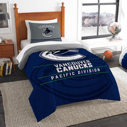 Vancouver Canucks NHL Twin Comforter Set (Draft Series) (64 x 86
