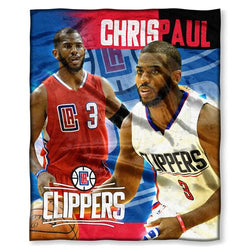 Los Angeles Clippers NBA Chris Paul Silk Touch Throw (50in x 60in)