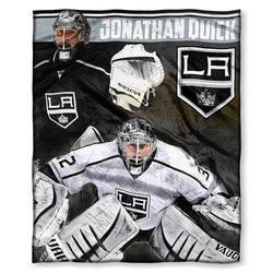 Los Angeles Kings NHL Johnathan Quick Silk Touch Throw (50in x 60in)