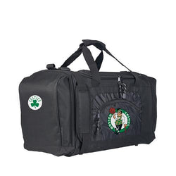 Boston Celtics NBA Roadblock Duffel Bag (Black/Black)
