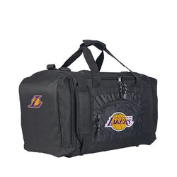 Los Angeles Lakers NBA Roadblock Duffel Bag (Black/Black)