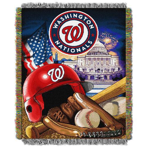 Washington Nationals MLB Woven Tapestry Throw (Home Field Advantage) (48x60