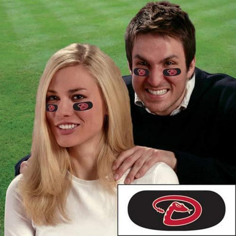 Party Animal Stick-On Eye Black Strips - MLB Arizona Diamondbacks