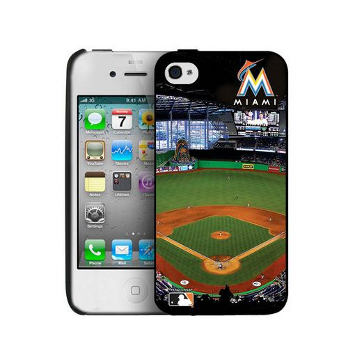 Iphone 4/4S Hard Cover Case - Miami Marlins