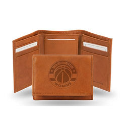Washington Wizards NBA Tri-Fold Wallet (Pecan Cowhide)