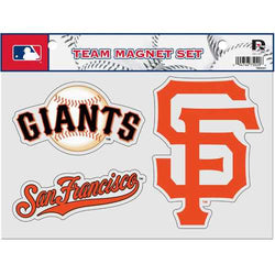 San Francisco Giants Official MLB 8 inch x 11 inch 3 Piece Team Magnet Sheet