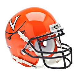 Virginia Cavaliers NCAA Authentic Mini 1/4 Size Helmet (Alternate Orange 1)
