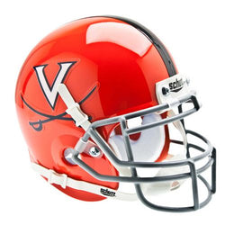 Virginia Cavaliers NCAA Authentic Mini 1/4 Size Helmet (Alternate Orange w/Gray Guard 2)