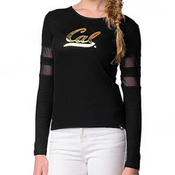 Cal Golden Bears NCAA Sporty-Chic Long-Sleeve Top (Large)