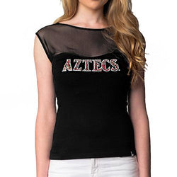 San Diego State Aztecs NCAA Mesh Contrast Top (Small)