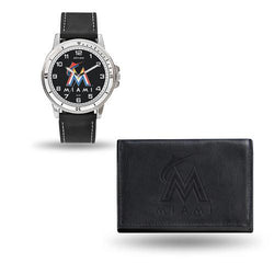 Miami Marlins MLB Watch and Wallet Set (Chicago Watch)