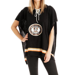 Anaheim Ducks NHL Stylish Knitted Cowl Hood Poncho (One Size Fits Most)