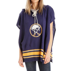 Buffalo Sabres NHL Stylish Knitted Cowl Hood Poncho (One Size Fits Most)