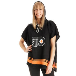 Philadelphia Flyers NHL Stylish Knitted Cowl Hood Poncho (One Size Fits Most)