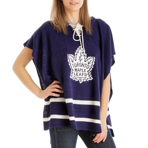 Toronto Maple Leafs NHL Stylish Knitted Cowl Hood Poncho (One Size Fits Most)