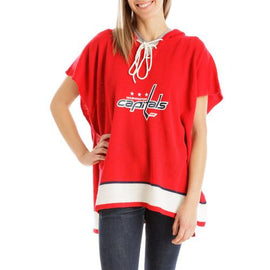 Washington Capitals NHL Stylish Knitted Cowl Hood Poncho (One Size Fits Most)