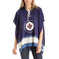 Winnipeg Jets NHL Stylish Knitted Cowl Hood Poncho (One Size Fits Most)