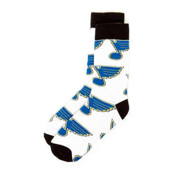 St. Louis Blues NHL Stylish Socks White (1 Pair) (S-M)