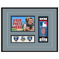 MLB 2010 ALCS New York Yankees vs Texas Rangers Ticket Frame