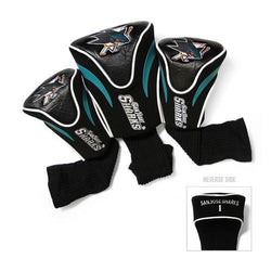 San Jose Sharks NHL 3 Pack Contour Fit Headcover