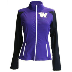 Washington Huskies NCAA Womens Yoga Jacket (Purple ) (Large)
