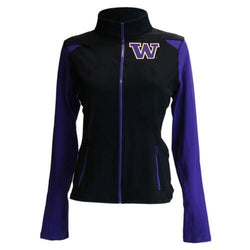 Washington Huskies NCAA Womens Yoga Jacket (Black) (X-Large)