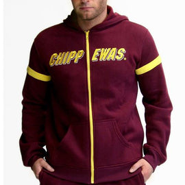 Central Michigan Chippewas NCAA Mens Full-Zip Hoddie (Maroon)