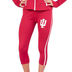 Indiana Hoosiers NCAA Womens Yoga Pant (Red) (Large)