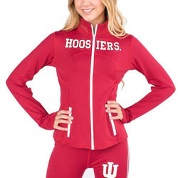 Indiana Hoosiers NCAA Womens Yoga Jacket (Red) (Medium)