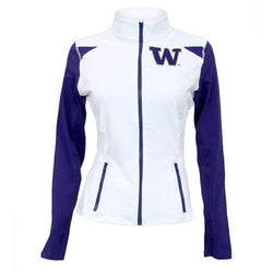 Washington Huskies NCAA Womens Yoga Jacket (White)