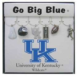 Kentucky Wildcats NCAA Glassware Charm Set (Set of 6)
