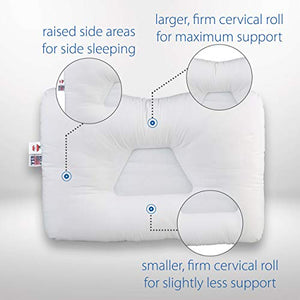 Almohada cervical (mediana, color blanco) - Core Products
