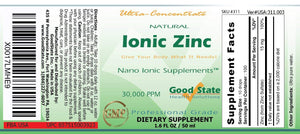 Zinc iónico natural | Concentrado liquido | 1.6 fl oz (50 ml)